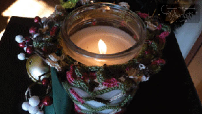 Crochet Candle Jar Holder