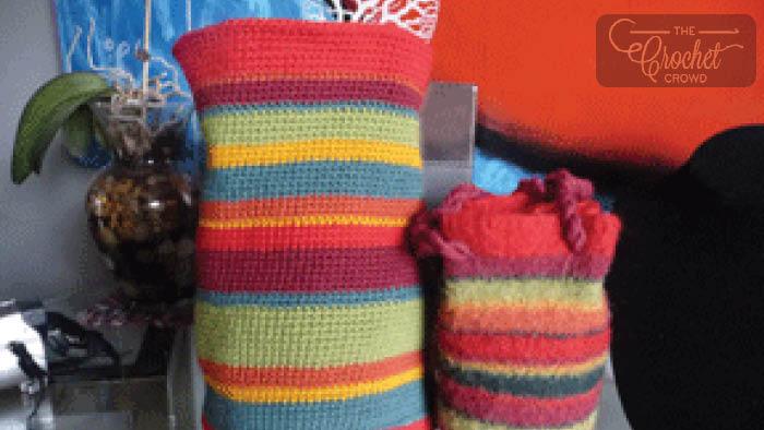 Crochet Felted Purse