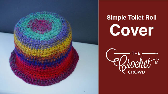 Crochet Simple Toilet Roll Cover