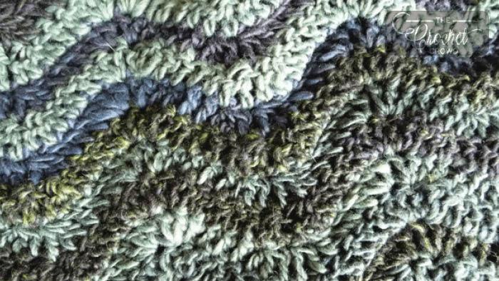 Water Waves Throw Crochet Pattern