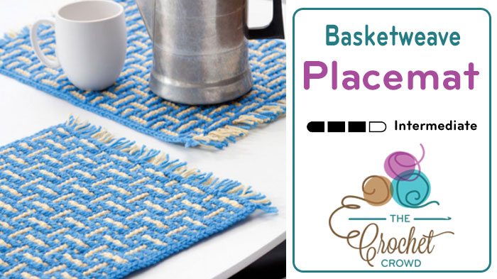 Crochet Basketweave Placemat