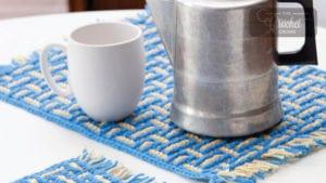 Crochet Basketweave Placemat