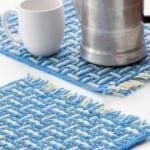 Crochet Mosaic Basket Weave Placemat
