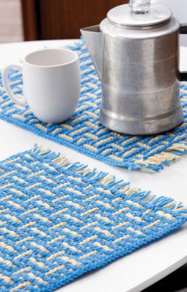 crochet dining table placemat