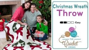 Crochet Christmas Wreath Throw