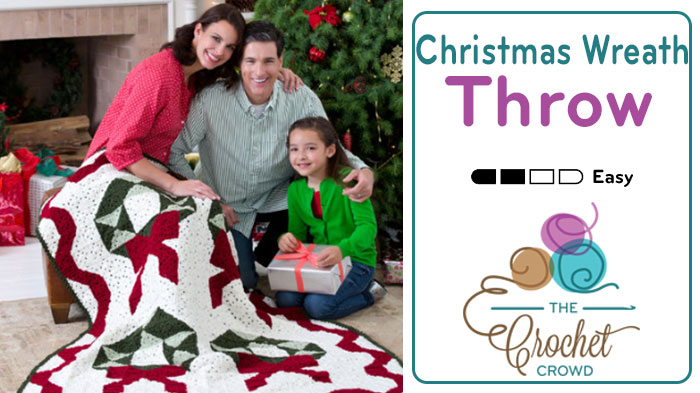 Crochet Christmas Wreath Throw Pattern