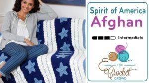 Crochet Spirit of America Afghan