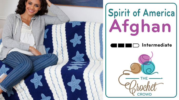 Crochet Spirit of America Afghan