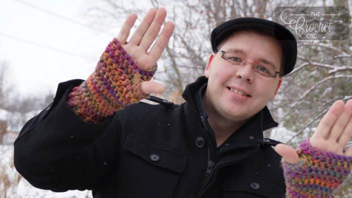 Crochet Stretchy Fingerless Gloves Pattern