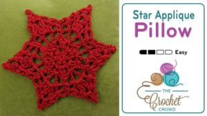 Star Applique Pillow