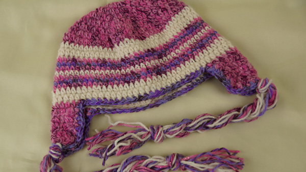American Doll Braided Ear Flap Hat Pattern
