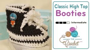 Crochet Classic High Top Booties