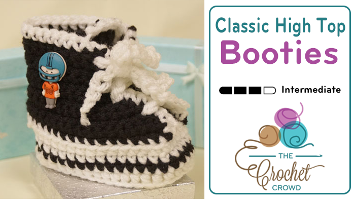 Crochet Classic High Top Booties