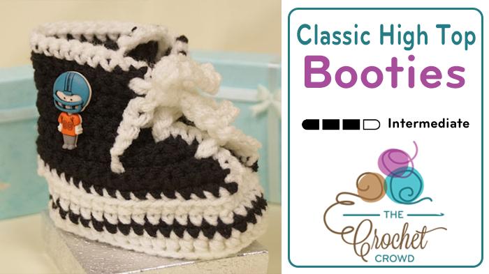 Crochet Baby Booties High Tops Pattern
