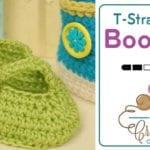 Stylin' Baby T-Strap Crochet Booties + Tutorial