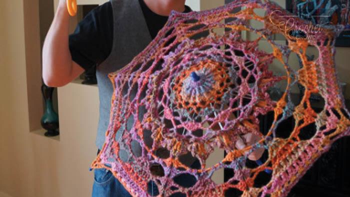 Crochet Wedding Umbrella Pattern + Tutorial