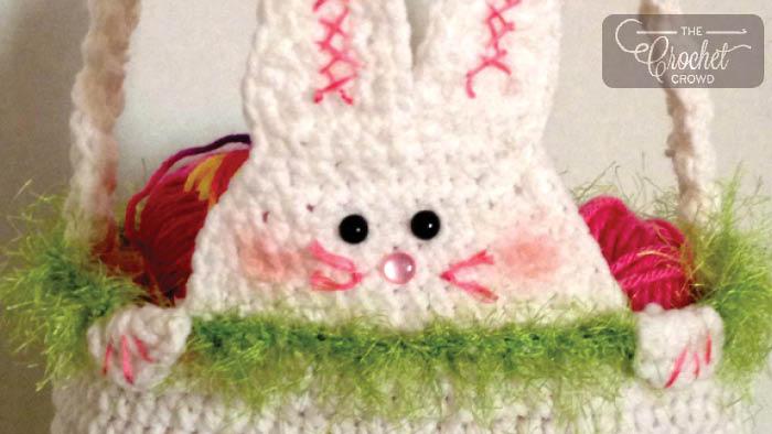 Peek A Boo Rabbit Crochet Easter Basket Pattern