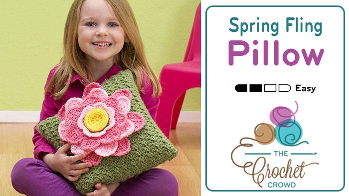 Crochet Spring Fling PillowCrochet Spring Fling Pillow