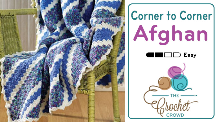 Corner To Corner Afghan Video Tutorial The Crochet Crowd