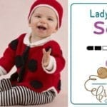 Free Crochet/Knit Sweet Lady Bug Baby Pattern Kit