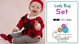 Crochet Lady Bug Set