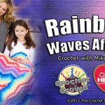 Rainbow Waves Throw Crochet Pattern