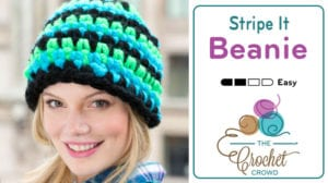 Crochet Stripe it Beanie