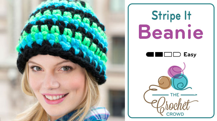 Crochet Thick Yarn Beanie Hat Pattern