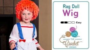 Crochet Rag Doll Wig