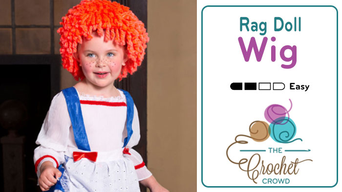 How to Make a Doll Wig: Free Crochet Pattern | FeltMagnet | 393x700