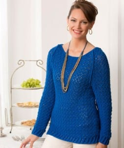 Holiday Sparkle Crochet Sweater
