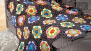 Crochet Kaleidoscope Throw
