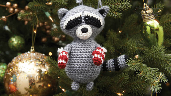Crochet Raccoon Ornament Pattern