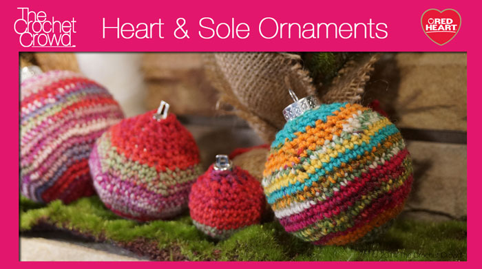 Free Crochet Patterns For Christmas Ball Covers : 5 Sizes: Christmas Ornamental Balls - The Crochet Crowd