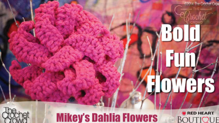 Fabulous Dahlia Crochet Flowers Pattern