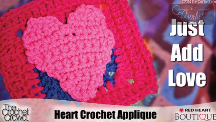 Crochet Simple Heart Applique Pattern