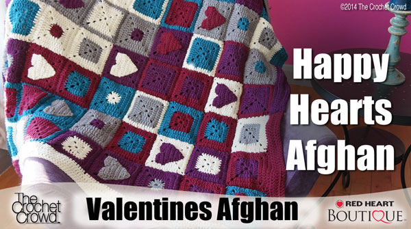 Happy Hearts Crochet Afghan Pattern