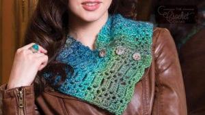 Crochet Button Neck Warmer