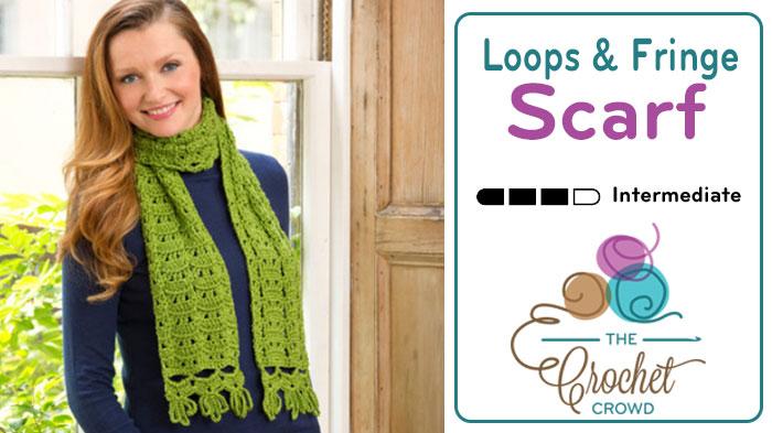 Crochet Loops & Fringe Scarf