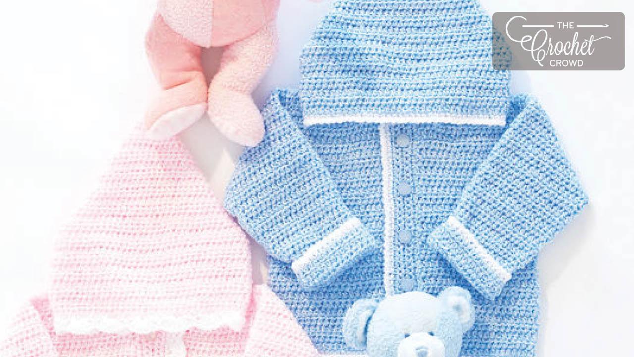 Crochet Easy Sweet Baby Hoodies The Crochet Crowd