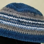 Striped 1 - 3 Year Old Crochet Beanie Hat