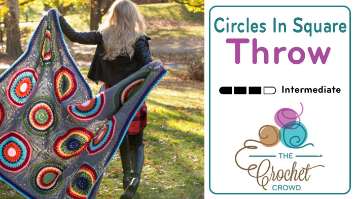 Crochet Circles in Square ThrowCrochet Circles in Square Throw