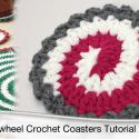 Crochet Pinwheel Coasters Pattern + Tutorial