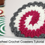 Crochet Pinwheel Coasters + Tutorial