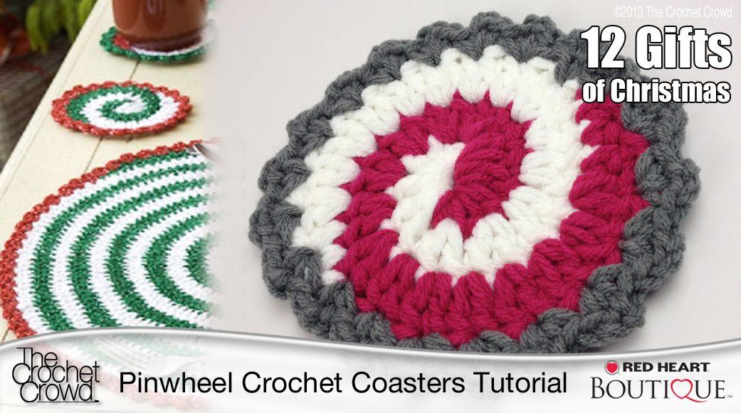 Crochet Pinwheel Coasters Tutorial The Crochet Crowd