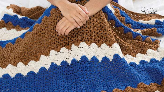 Crochet Sea to Shining Sea Throw Pattern