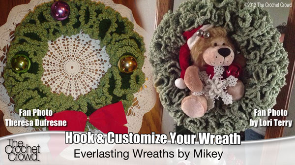 Holiday Wreaths Video Tutorial The Crochet Crowd