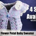 Crochet Flower Petal Cardigan Pattern