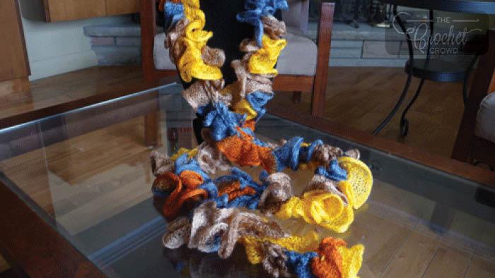 Frill Seeker Knit Scarves By Estelle Yarns
