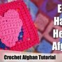 Hearts Applique Crochet Pattern